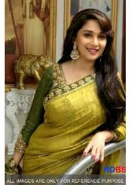 Buy Samantha Bollywood Replica Green Bollywood Replica Madhuri Dixit Olive Green Saree Rdbs1270