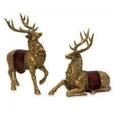 imax reindeer figurines set of 2 59159 2 outdoor living