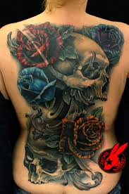 skulls roses back by jackie rabbit the