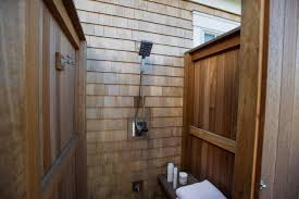 bathroom dazzling outdoor shower stall ideas with wooden wall