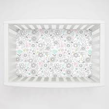 Rocking Mini Crib by Pink Spring Doodles Mini Crib Sheet Carousel Designs