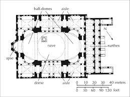 Floor Plan Of Hagia Sophia   image result for hagia sophia s dome floor plan architectural