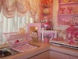 Kitchen Cabinet Valance Kitchen Style Shabby Chic Kitchen Pink Open Shelves Single Bowl
