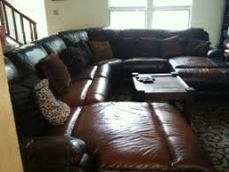 Brown Leather Sectional Sofa by Small Sectional Sofa With Recliner Foter