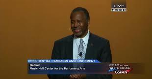 ben carson presidential bid dr ben carson presidential caign announcement may 4 2015