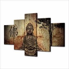 aliexpress com buy 5 piece zen buddha modern home wall decor