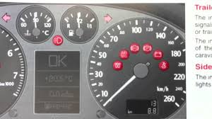 audi a6 c5 dashboard warning lights u0026 symbols what they mean youtube