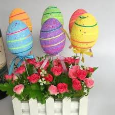 foam easter eggs 6 colorful easter foam easter eggs picks easter crafts