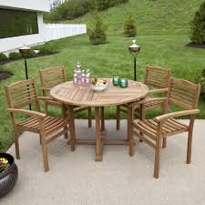 Patio Coffee Table Set Teak Outdoor Dining Table Set With Stacking Chairs Outdoor