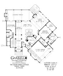 cedar creek cottage house plan covered porch plans