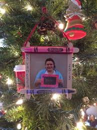 popsicle stick crayon picture frame ornament i made there with my 3