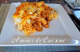 recette de cuisine alg駻ienne gratins gratin de pates a la bolognaise express amour de cuisine