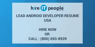 android developer resume lead android developer resume hire it we get it done