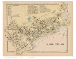 Map Of Massachusetts Cities Towns by Marblehead Massachusetts 1872 Old Town Map Reprint Essex Co