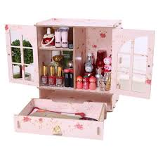 Desk Organizer Box Hoyofo Large Wood Makeup Storage Cabinet S Cosmetic Desk