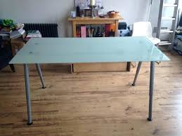 ikea galant desk glass
