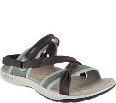 merrell leather sport sandals vesper lattice page 1 u2014 qvc com