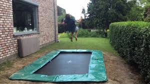 new in ground trampoline youtube