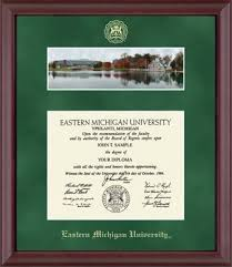 of michigan diploma frame eastern michigan cus diploma frame in camby