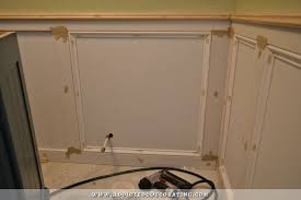 Wainscoting Over Bathroom Tile Recessed Panel Wainscoting With Tile Accent U2013 Part 1