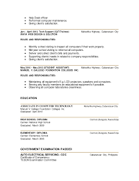 Sample Resume Computer Science Sample Resume For Ojt Computer Technology Resume Ixiplay Free