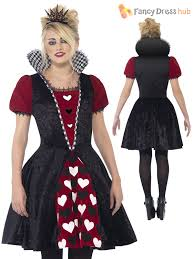 ladies or teen girls dark alice queen of hearts costume halloween