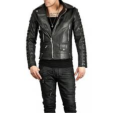 biker jacket designer new style black leather biker jacket