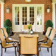 Outdoor Dining Room Amazon Com Hanover Kerrington7pc Kerrington 7 Piece Outdoor