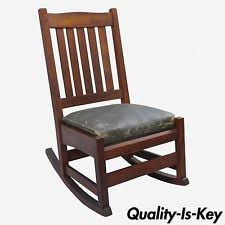 Mission Style Rocking Chair Arts U0026 Crafts Mission Style Rocking Chairs Antiques Ebay