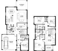 floor plans for two story homes narrow lot house plans with front garage balcony master