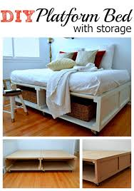 How To Build A King Size Platform Bed With Drawers by 25 Easy Diy Bed Frame Projects To Upgrade Your Bedroom Homelovr