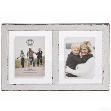 5 X 7 Photo Albums Bristol Distressed White Wood Float Double 5x7 Frame By Prinz Usa