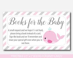 bring a book instead of a card baby shower nautical bring a book instead of a card insert whale baby shower
