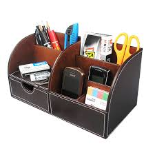 Leather Desk Organizers Office Desk Organizer At Home And Interior Design Ideas