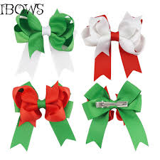 christmas hair accessories christmas hair decoration plain color hairclips kids party hair