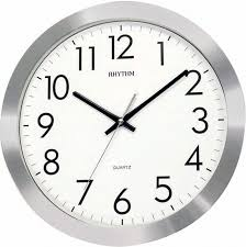 Horloge Murale Ronde Blanche Avec Pendule Murale Silencieuse Ronde Aluminium Brossé Pendule Murale