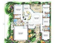 Mediterranean Floor Plan Luxury Style House Plans 6024 Square Foot Home 2 Story 4