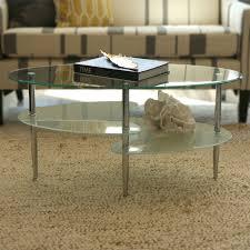 walker edison coffee table walker edison 38 inch wave dual oval coffee table c38b4