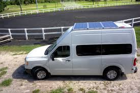 nissan work van nissan nv stealth camper roof rack and solar panels wayne wirs