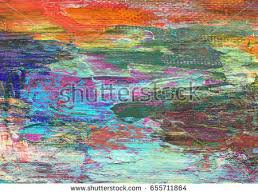 colorful oil painting texture background blue stock illustration