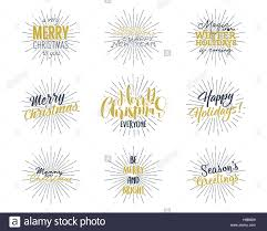 set of new year 2017 lettering wishes sayings and