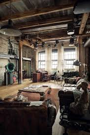 home interior design u2014 eclectic industrial loft apartment with an