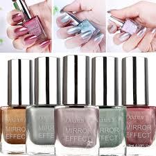 5 colors 10ml metallic mirror specular effect metal silver nail