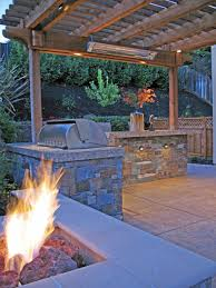 fire pit bbq and arbor a heater stone valley oaks alamo