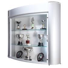 Wall Curio Cabinet Glass Doors Decoration Small Wall Display Floor Display Glass