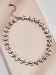 crystal collar statement necklace images Sophia crystal collar statement necklace olive piper jpg