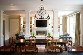 french country light fixtures dining room farmhouse with brick
