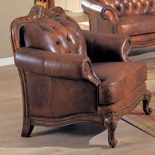 Leather Club Chair Shop Coaster Fine Furniture Victoria Brown Leather Club Chair At