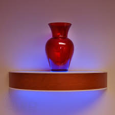 under cabinet led lighting puts the spotlight on the led floating shelves morespoons e1d2f4a18d65
