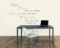 stickers metal picture more detailed about you are you are braver stronger smarter motivational quote wall stickers decorative diy inspirational quotes office decal